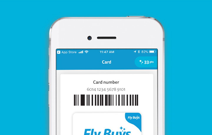 1.Use your digital Fly Buys card on the go.