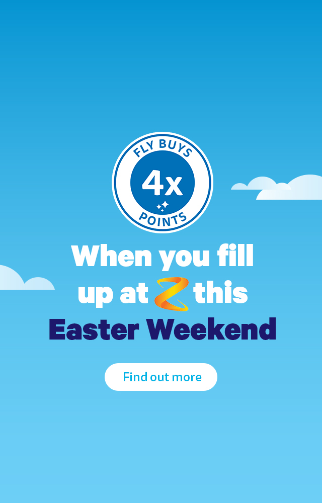 Get 4x points on fuel at Z this Easter weekend!