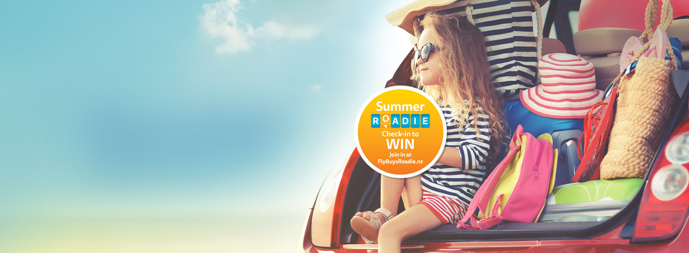 Chillaxing in a car - Join the Summer Roadie with Fly Buys!