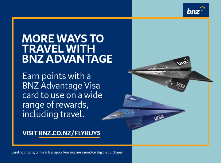 Get even more points while you travel with your Fly Buys earning BNZ Advantage Visa Credit Card.