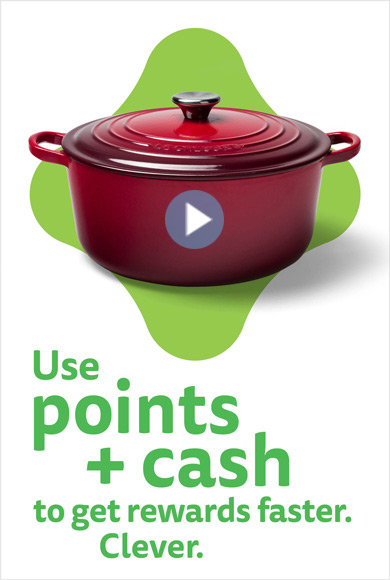 Learn how you can use points plus cash to get rewards faster in this short (30 secs) video.