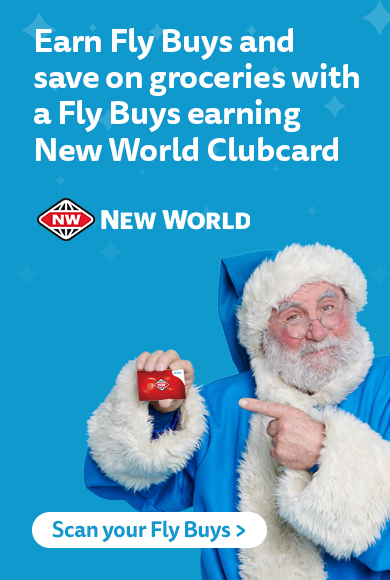 You can use this card at all Fly Buys partners to earn points, plus get savings at New World.