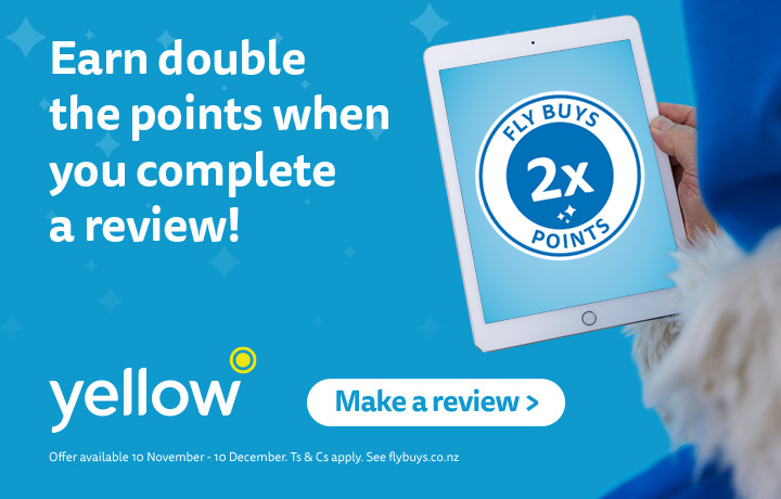 Free points! Get double the points just for completing a review. 10 Nov-10 Dec. T&Cs apply.