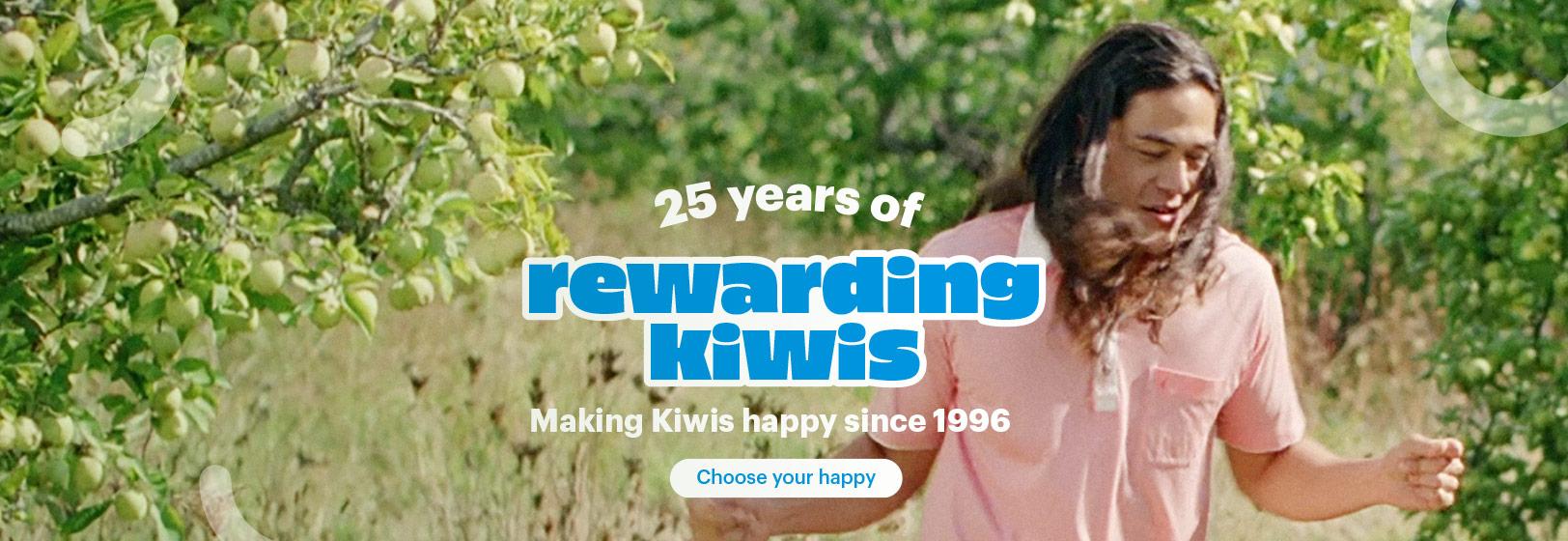 25 years of Rewarding Kiwis