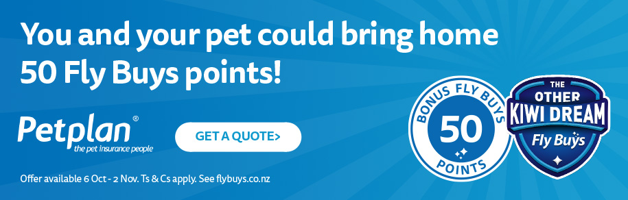 You and your pet could bring home 50 Fly Buys points!