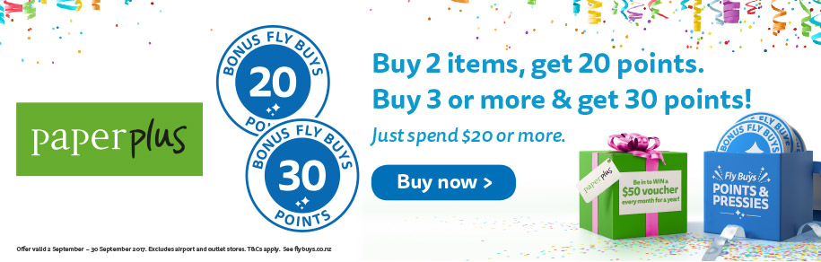 Buy 2 items, get 20 points. Buy 3 or more & get 30 points!