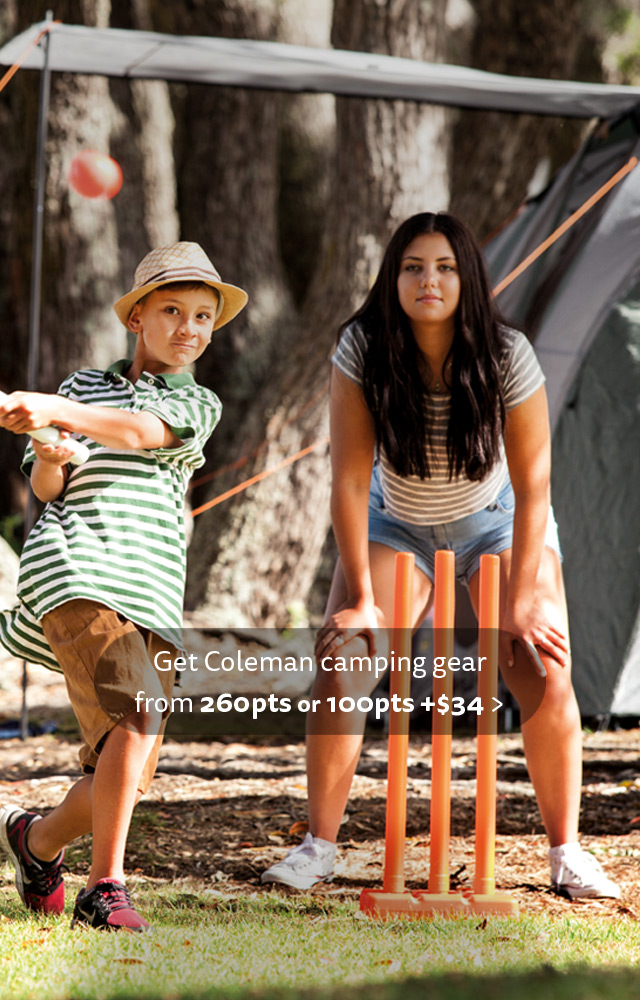 Get Coleman camping gear from 260pts or 10pts + $34