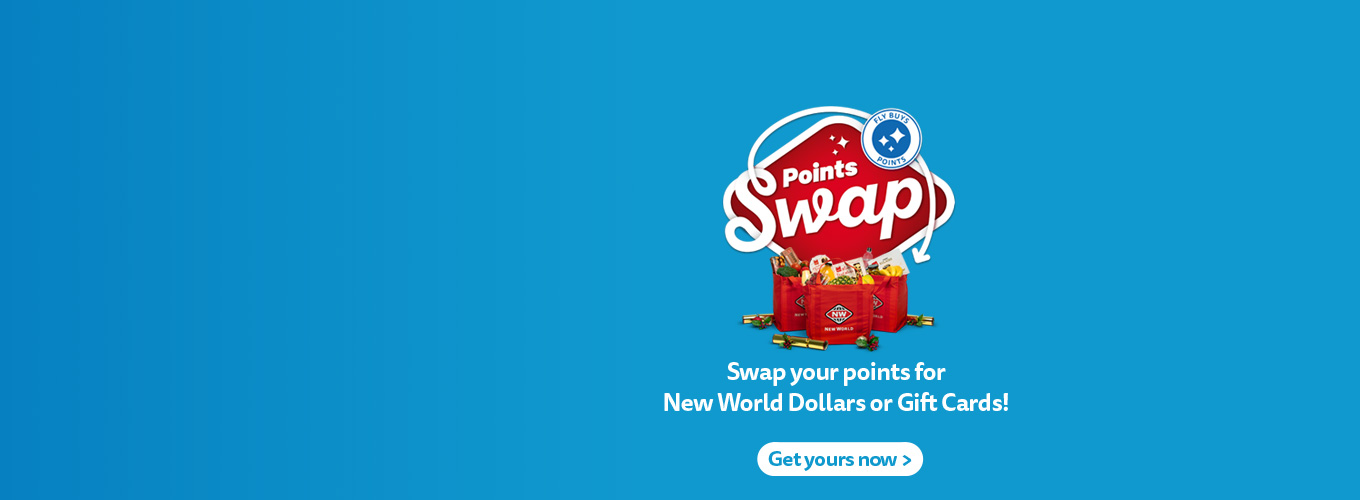 Swap your Fly Buys points for New World Dollars or Gift Cards!