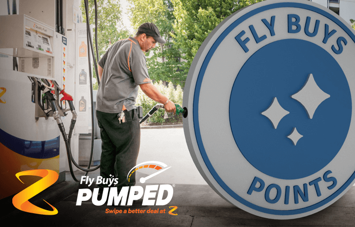 Get points and instant fuel discounts with Fly Buys Pumped at Z Energy.
