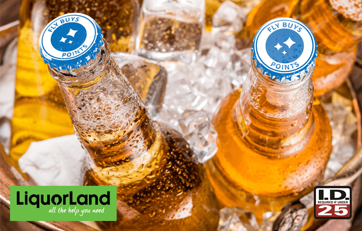 Celebrate and get points with Liquorland. Now that's worth celebrating.