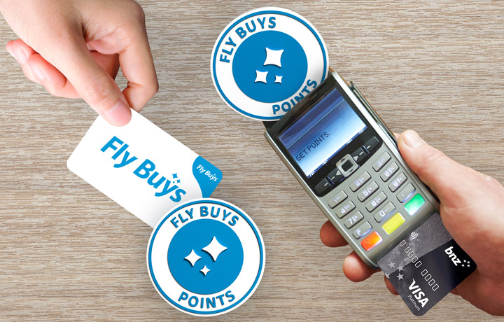 Buy once, get twice. Swipe your Fly Buys card & pay with your Fly Buys earning BNZ Advantage Visa card & get points on that too. T&Cs apply