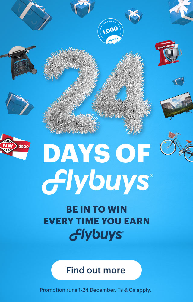 Be in to win every time you earn Flybuys!