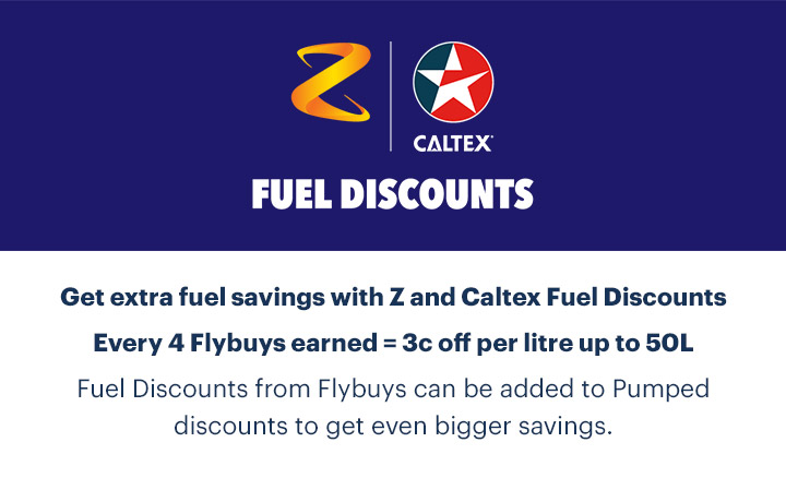 Sign in to choose Z and Caltex Fuel Discounts