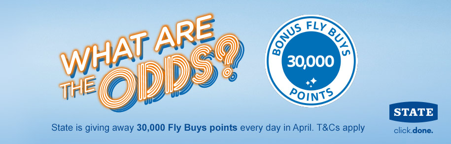 State is giving away 30,000 Fly Buys points every day in April