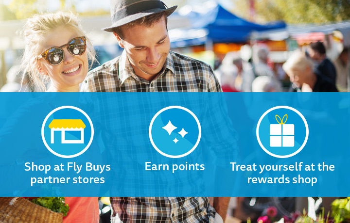 Shop at Fly Buys partner stores, earn points, and treat yourself at the reward shop