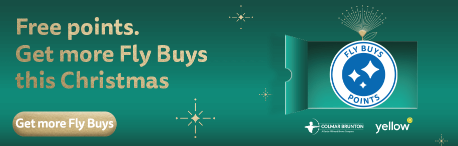 Free points! Get more Fly Buys this Christmas.