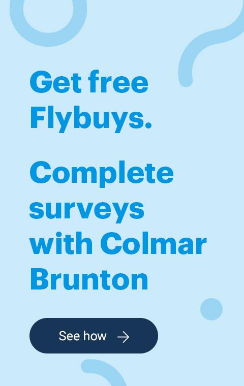Flybuys Earn Colmar