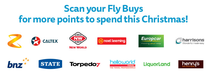 Scan your Fly Buys at our partners for more points to spend this Christmas!
