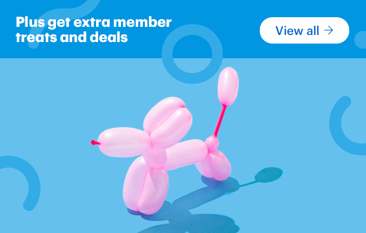 Plus get special deals for being a member