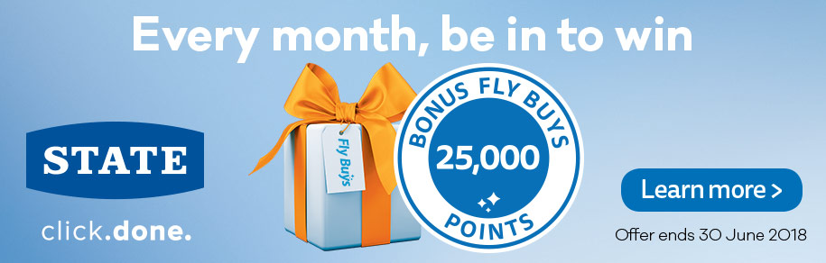 State 25,000 bonus points monthly draw